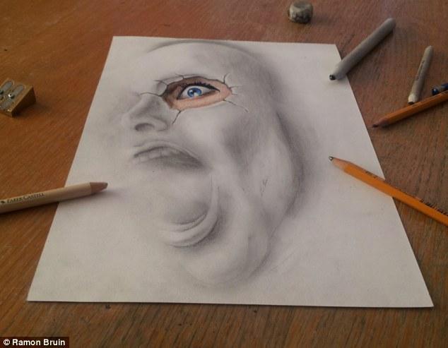 Drawn 3d art airbrush #2