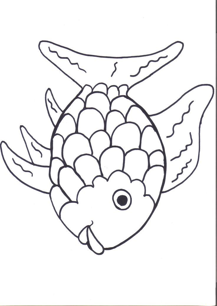 Drawn rainbow printable Fish Kids Preschool 25+ Best