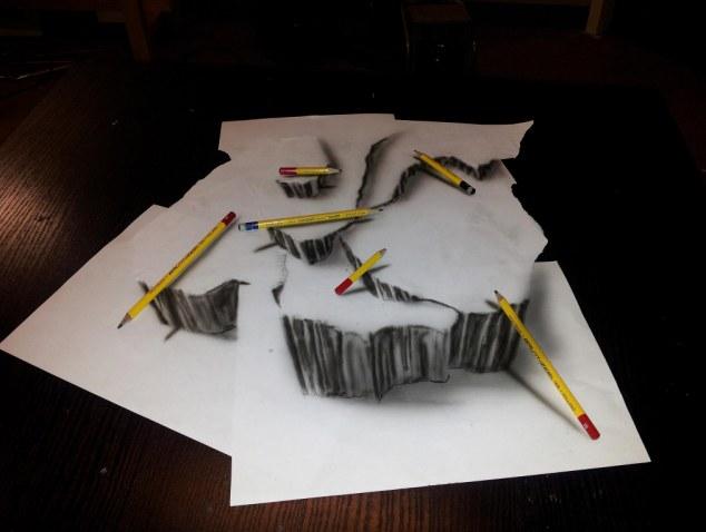 Drawn 3d art airbrush #1