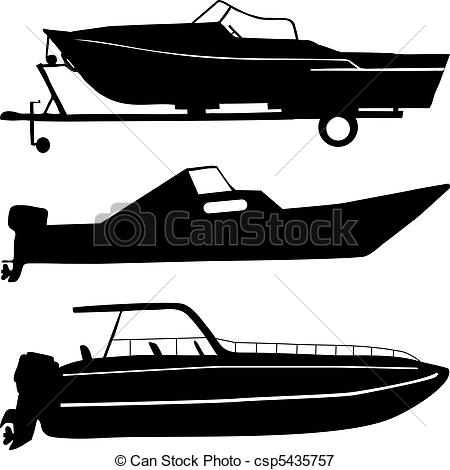Yacht clipart speed boat Csp5435757 boats Clipart  Illustration