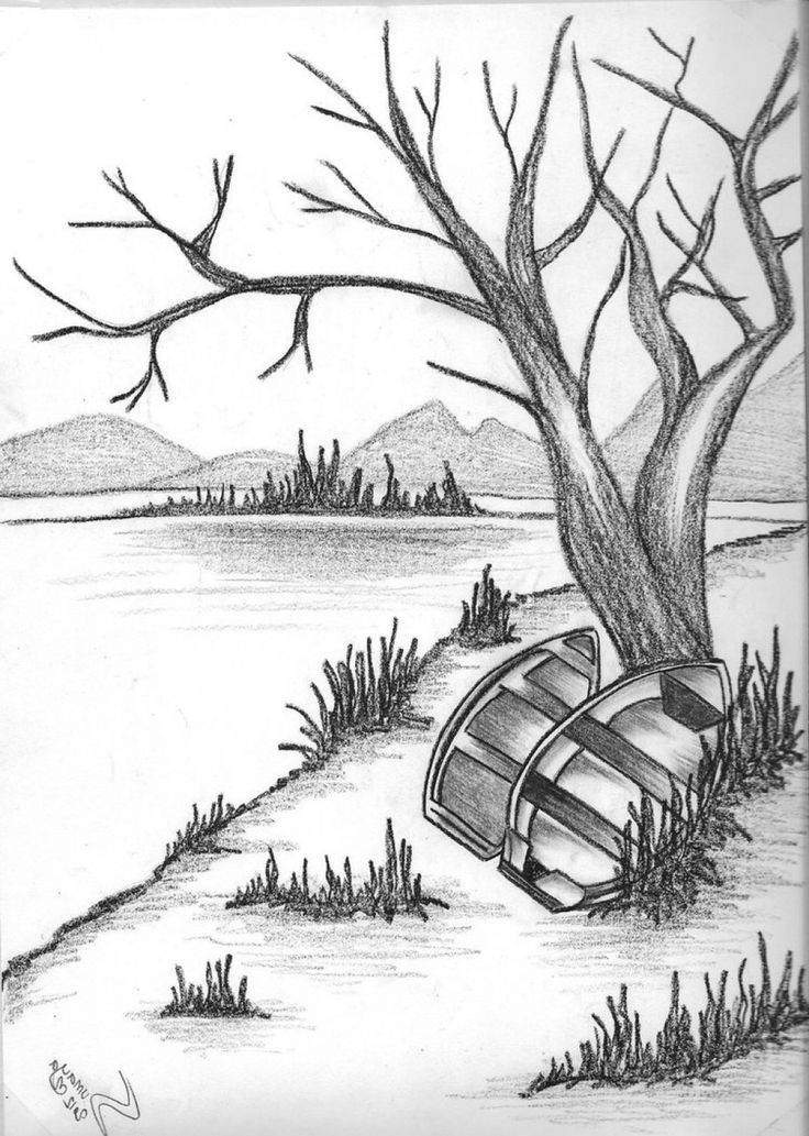 Drawn scenery outstanding Sketch Nature Natural on Pictures