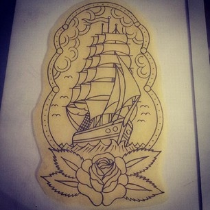 Drawn ship american traditional Pinterest Sailboat Boat on ideas