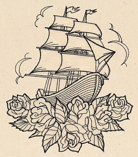 Drawn ship tribal And Threads: Pinterest Designs on