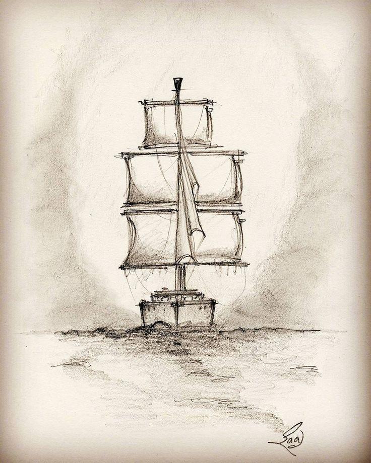 Drawn yacht scenery Ideas in #drawing best Pinterest