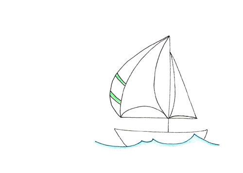 Drawn yacht printable Away Simple Sail Edition Edition