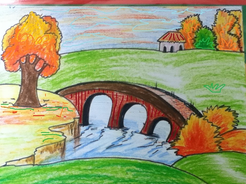Drawn scenery easy Scenery draw to YouTube simple