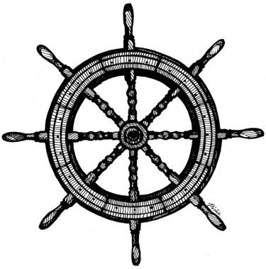 Drawn anchor ship wheel PiñaShipWheel Ship 25+ on Ship