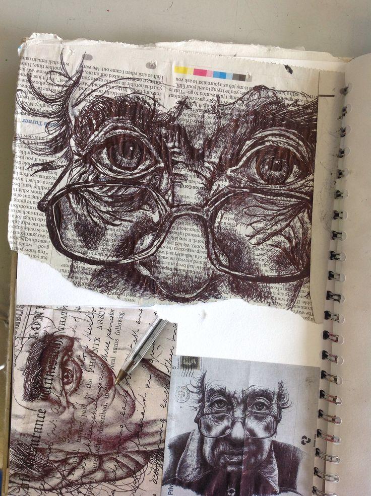 Drawn portrait a level art sketchbook 25+ ideas on pen Find