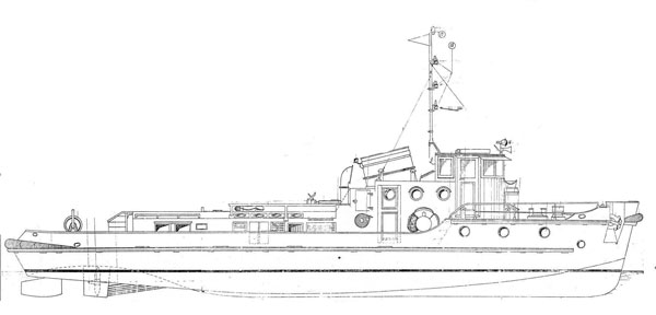 Drawn yacht tugboat Model Plans Free Plans Tugboat