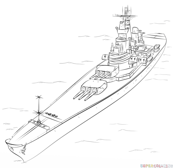 Drawn ship battleship Draw tutorials to by How