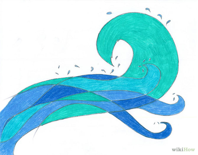 Ocean clipart easy How to Draw wikiHow Tutorials