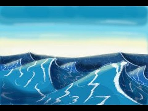 Drawn sea ocean wave How YouTube How draw to