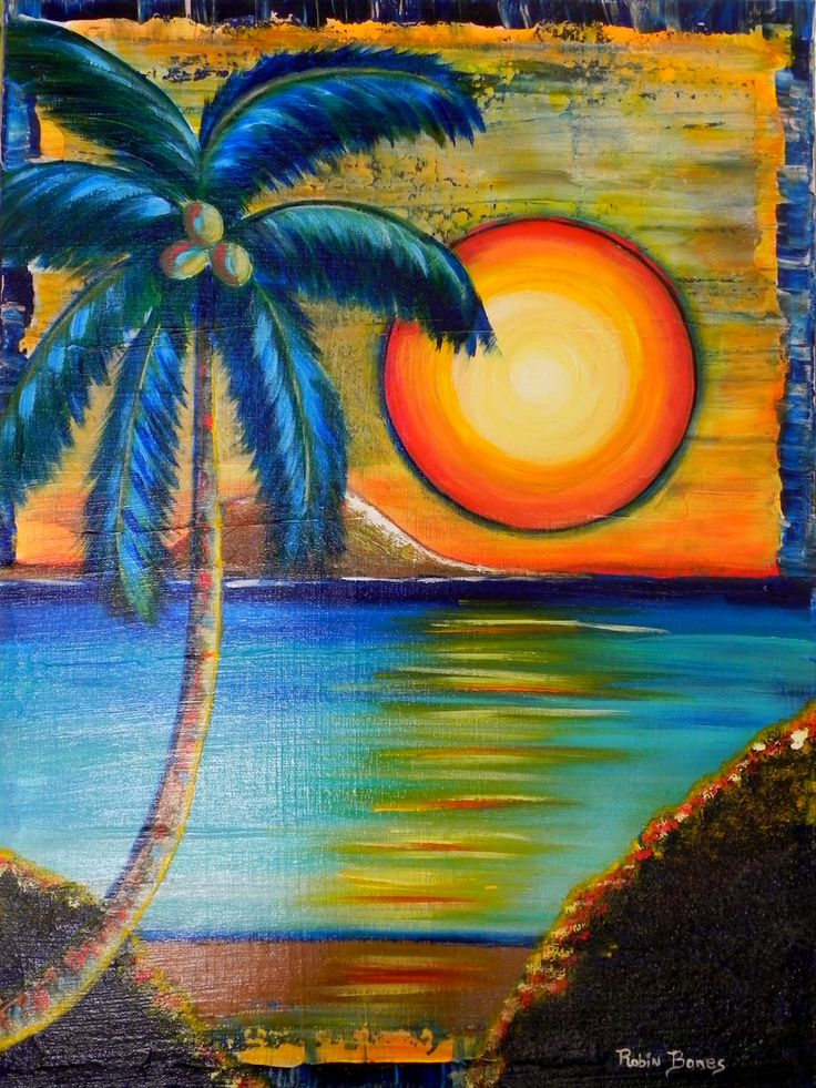 Drawn palm tree sunset Palm images best 284 tree