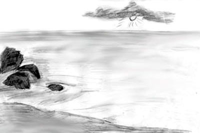 Drawn sea pencil drawing To by a Draw Step