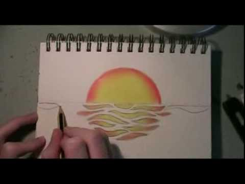 Drawn ocean simple YouTube Sunset Abstract Time lapse