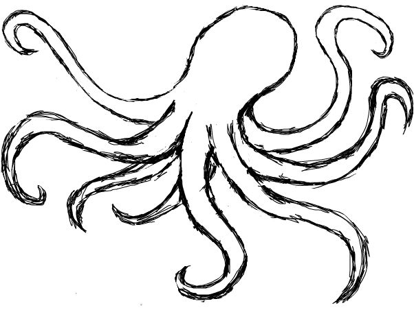 Drawn octopus Search Pinterest Octopus drawing Best