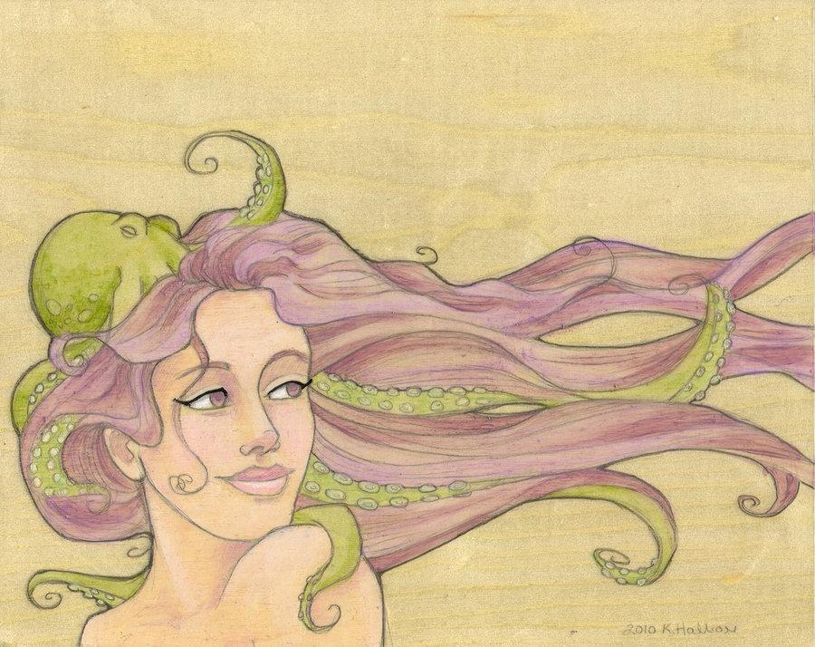 Drawn octopus mermaid Khallion by Octopus Mermaid Octopus