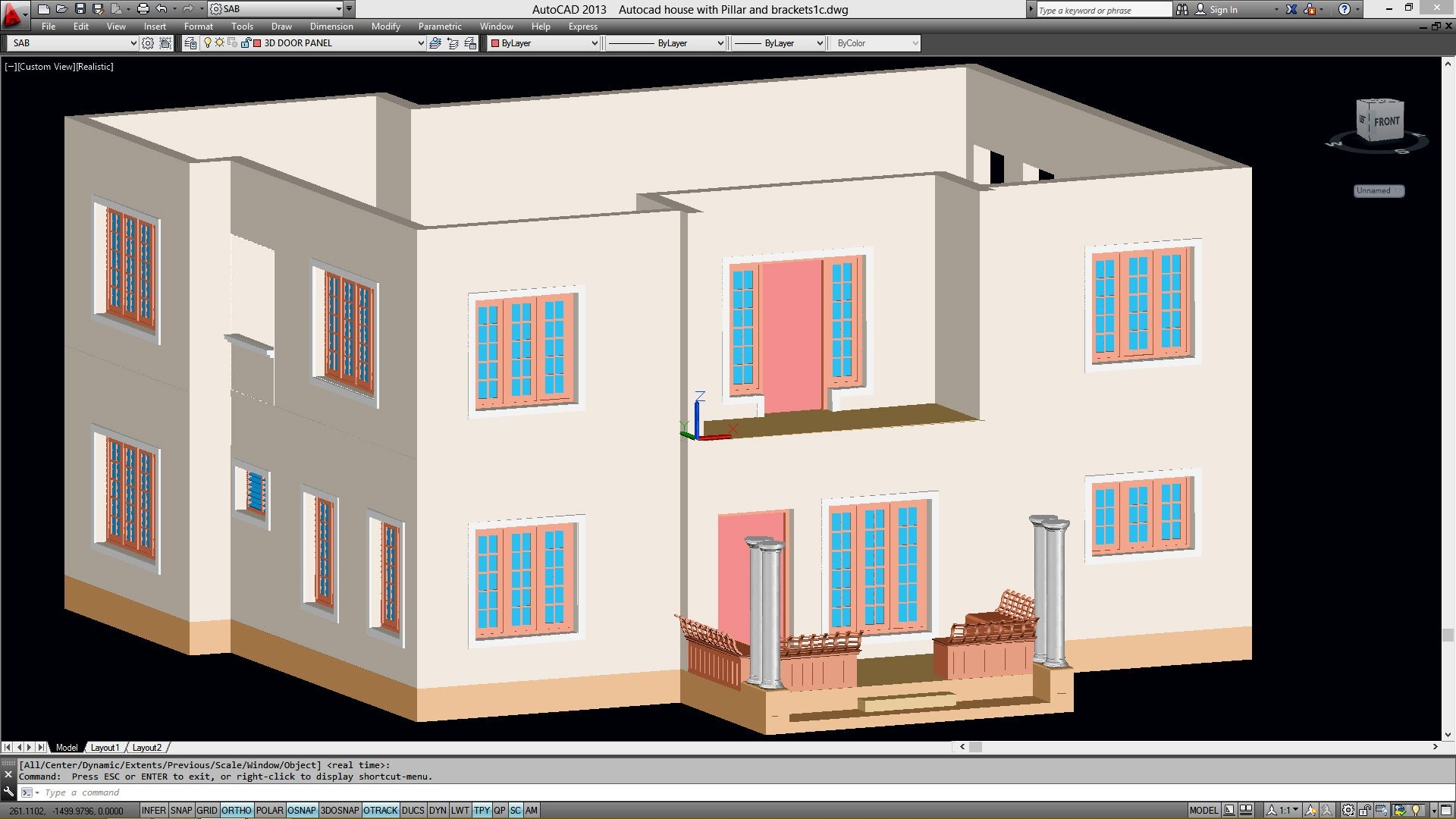 Drawn office home office AUTOCAD THE FROM FLOOR THE