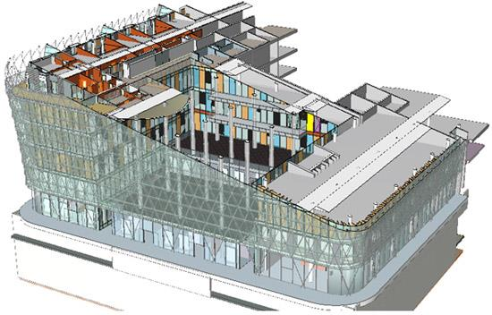 Drawn office 3d building Views and 17 3D Center