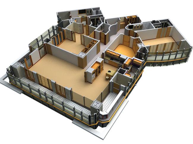 Drawn office 3d building Image source 3D Review Top