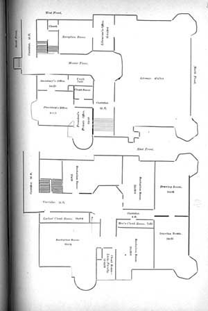 Drawn office admin office Building Library plans Floor Old