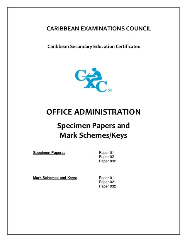 Drawn office admin office Syllabus Csec  office administration