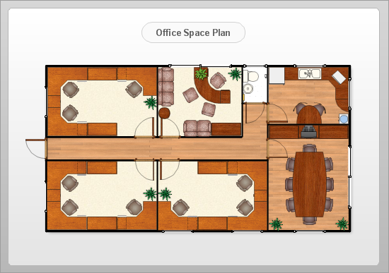 Drawn office administration office — Plan Floor Landscape and