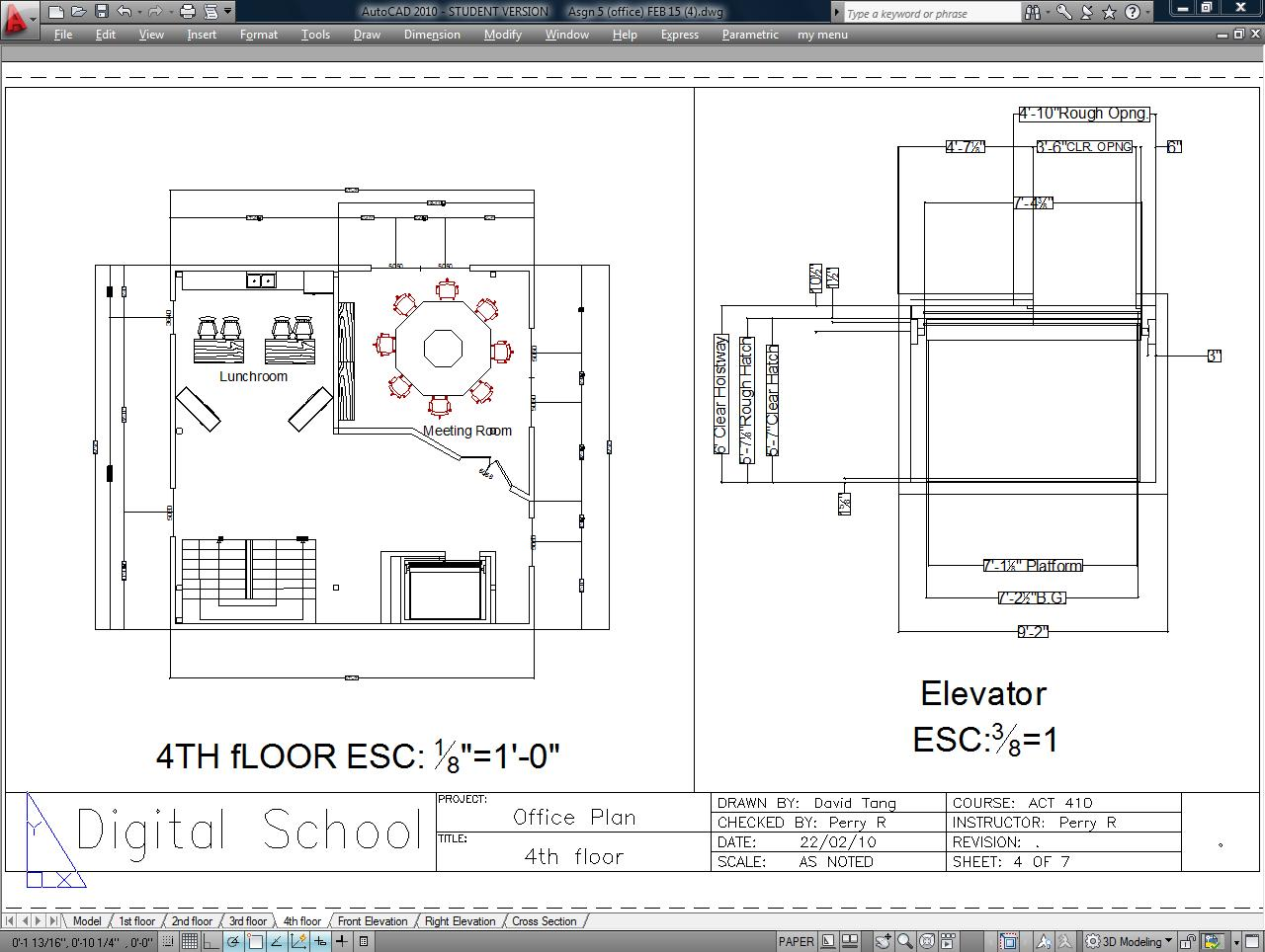 Drawn office architect office Architectural Architectural 2 4th Office