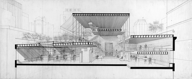 Drawn office architectural Kelviin Section by Drawing Drawing