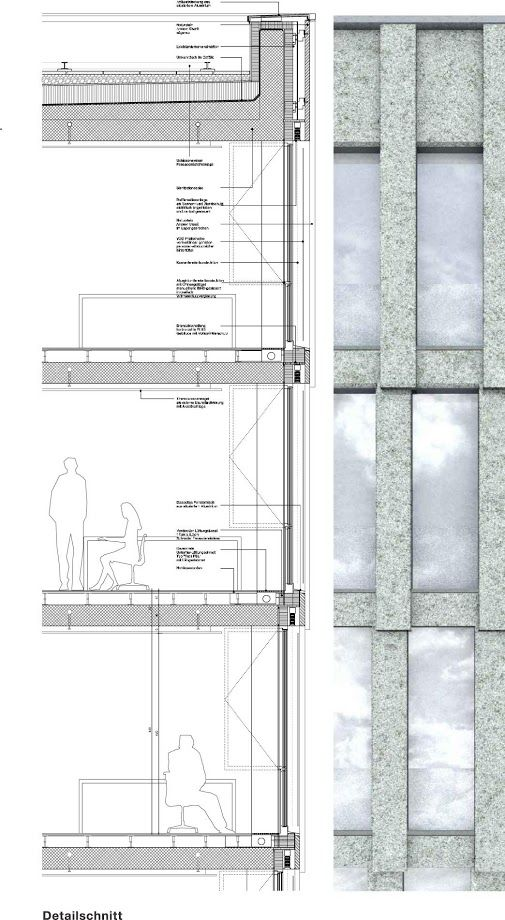 Drawn office architectural Andreasturm Elevation ideas drawing for