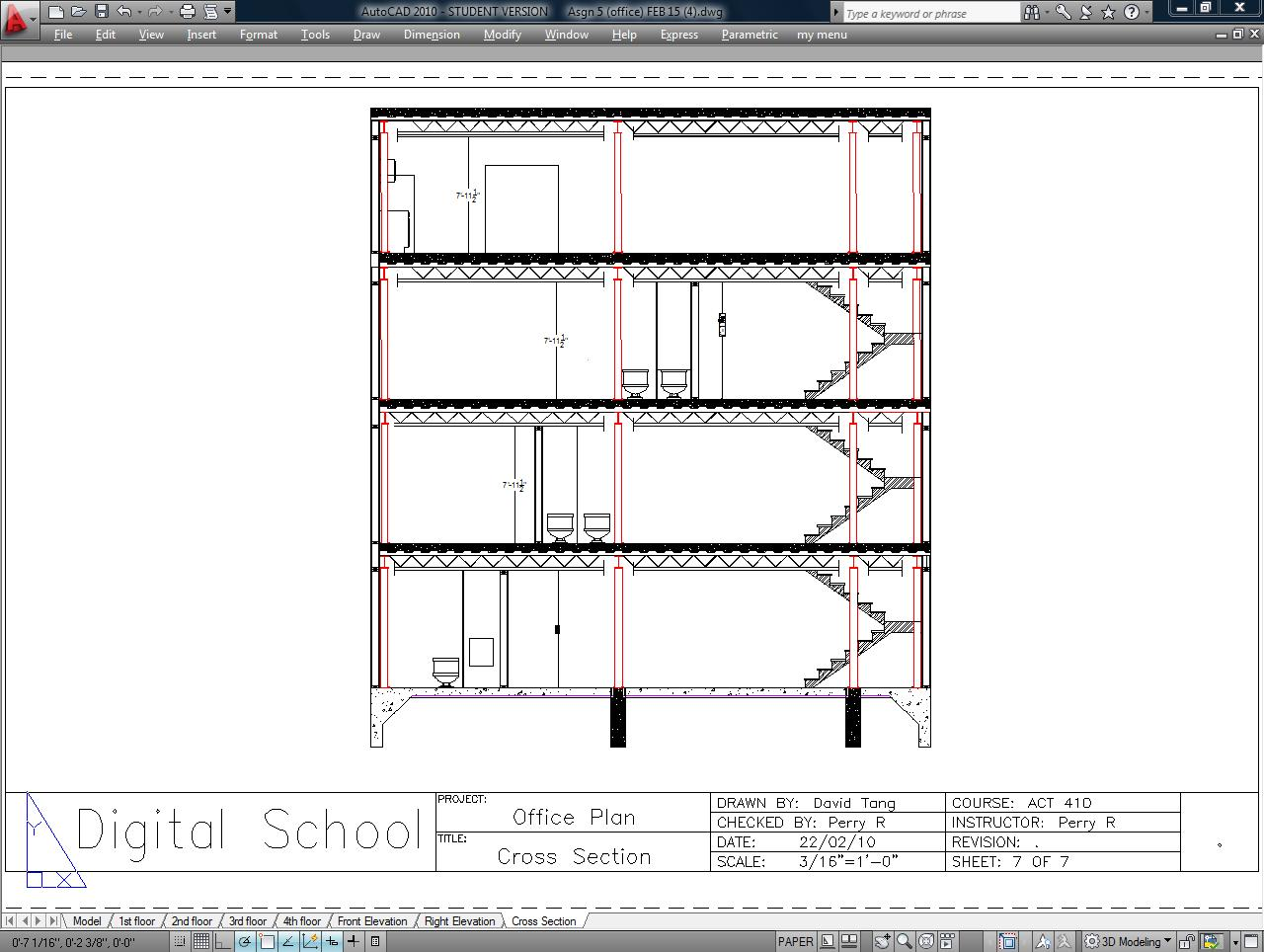 Drawn office architectural Office Architectural Cross dtxscad 2