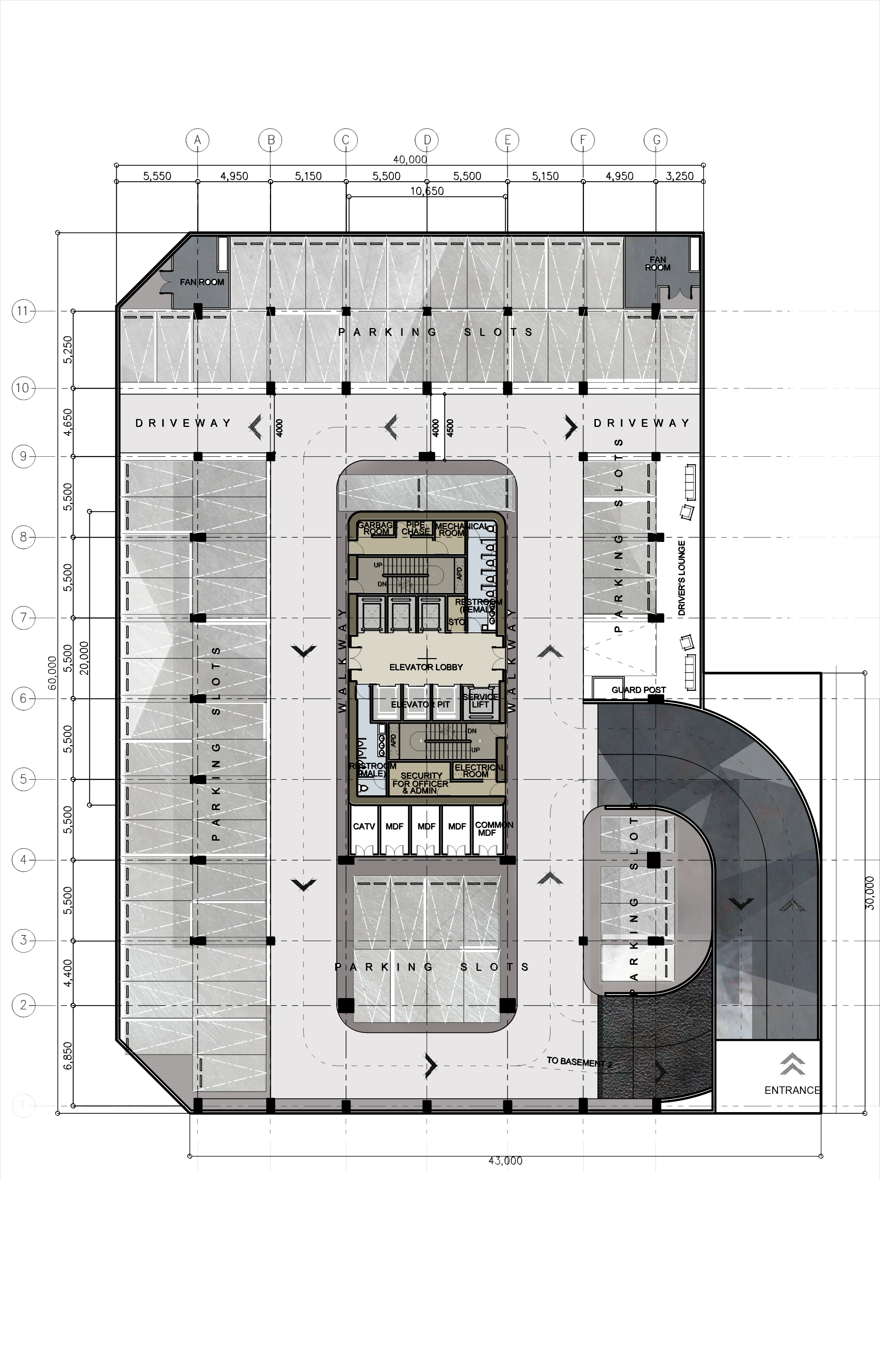 Drawn office architectural Corporate / Office Architectural Design