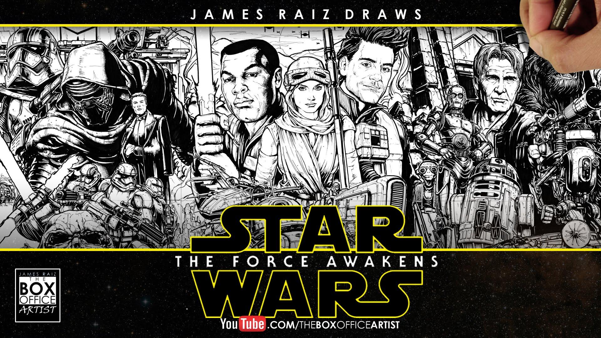 Drawn office art  TRAILER FORCE WARS: STAR