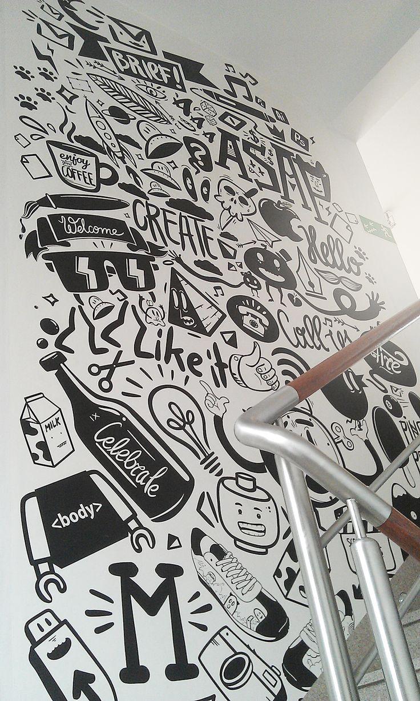 Drawn office art Agency mural peterjaycob on mural