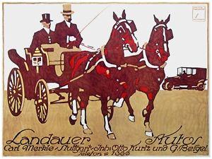 Drawn office art Image Landauer horse Landauer carriage