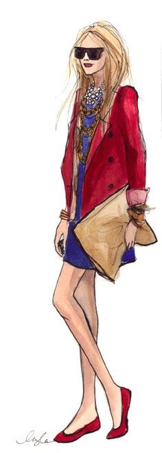 Drawn office attire 392 print Pin about images