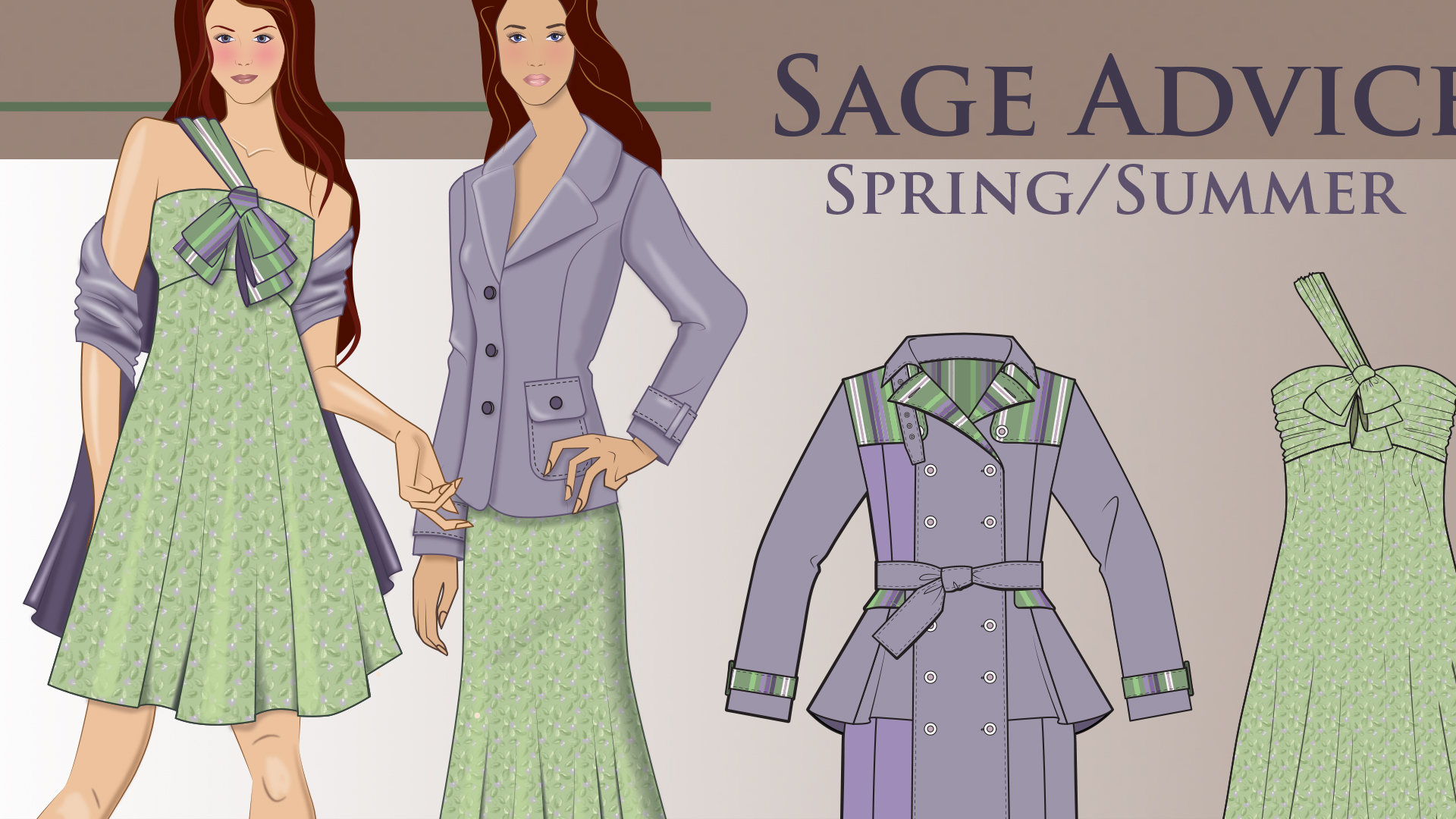 Drawn office attire For Illustrator Fashion Flats Drawing