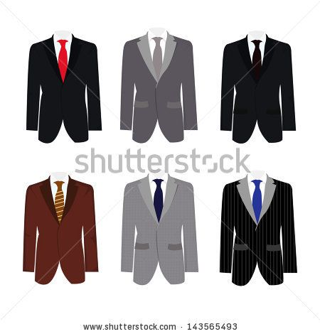 Drawn suit illustration Red images set tux s