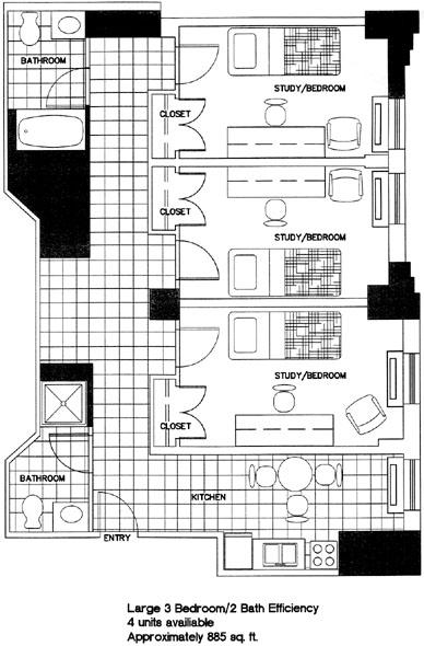 Drawn office bedroom furniture Bedroom/Two Georgetown Room Efficiency Floor
