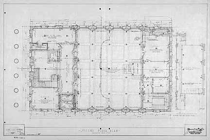 Drawn office blueprint Plan S Second Library Alachua