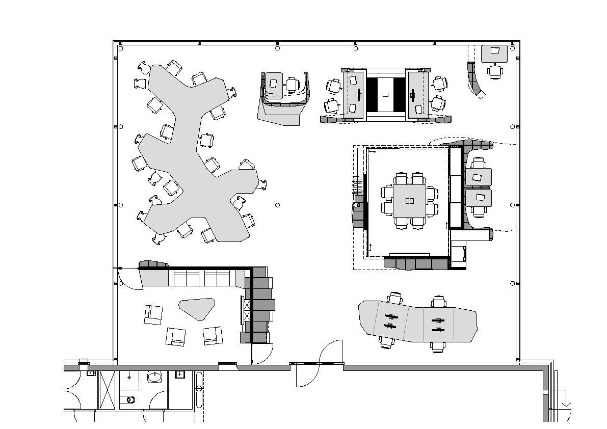 Drawn office blueprint Ynno modern floor o floor