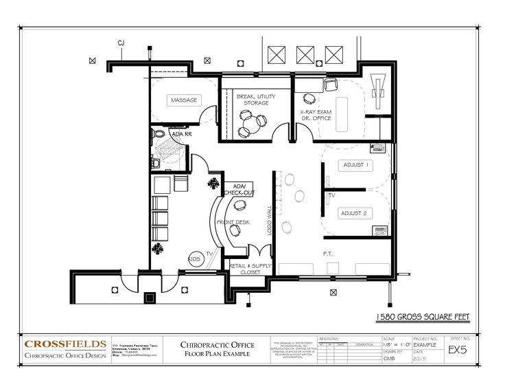 Drawn office blueprint Adjusting Office Semi sq 1580