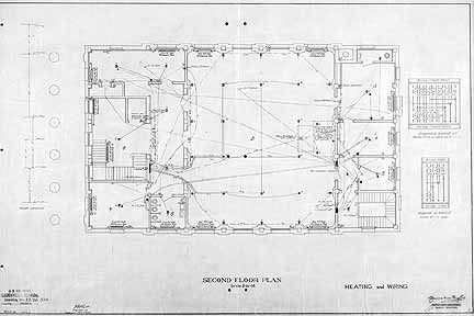 Drawn office blueprint Plan S Second H Drawing