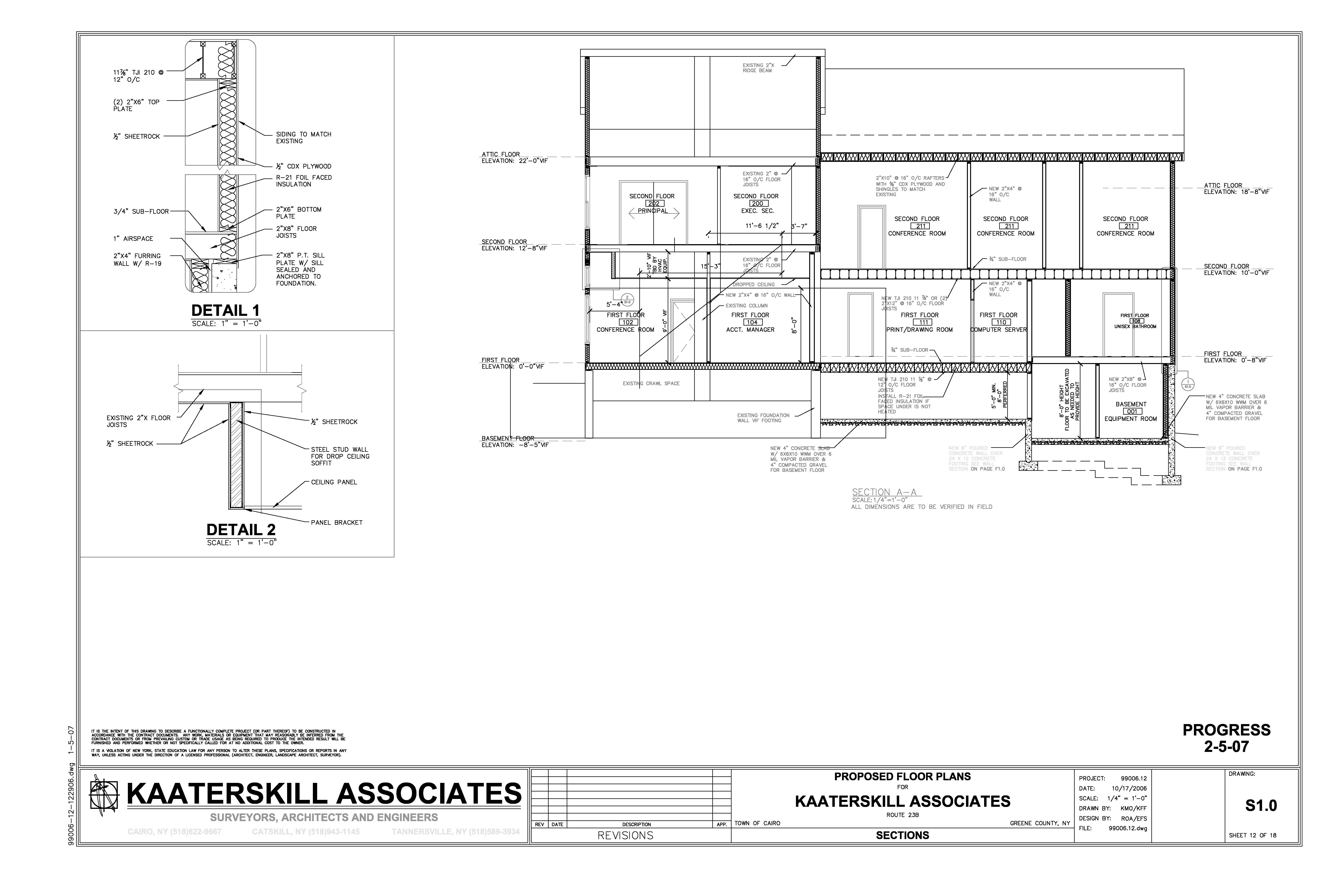 Drawn office blueprint A Office to How Associates
