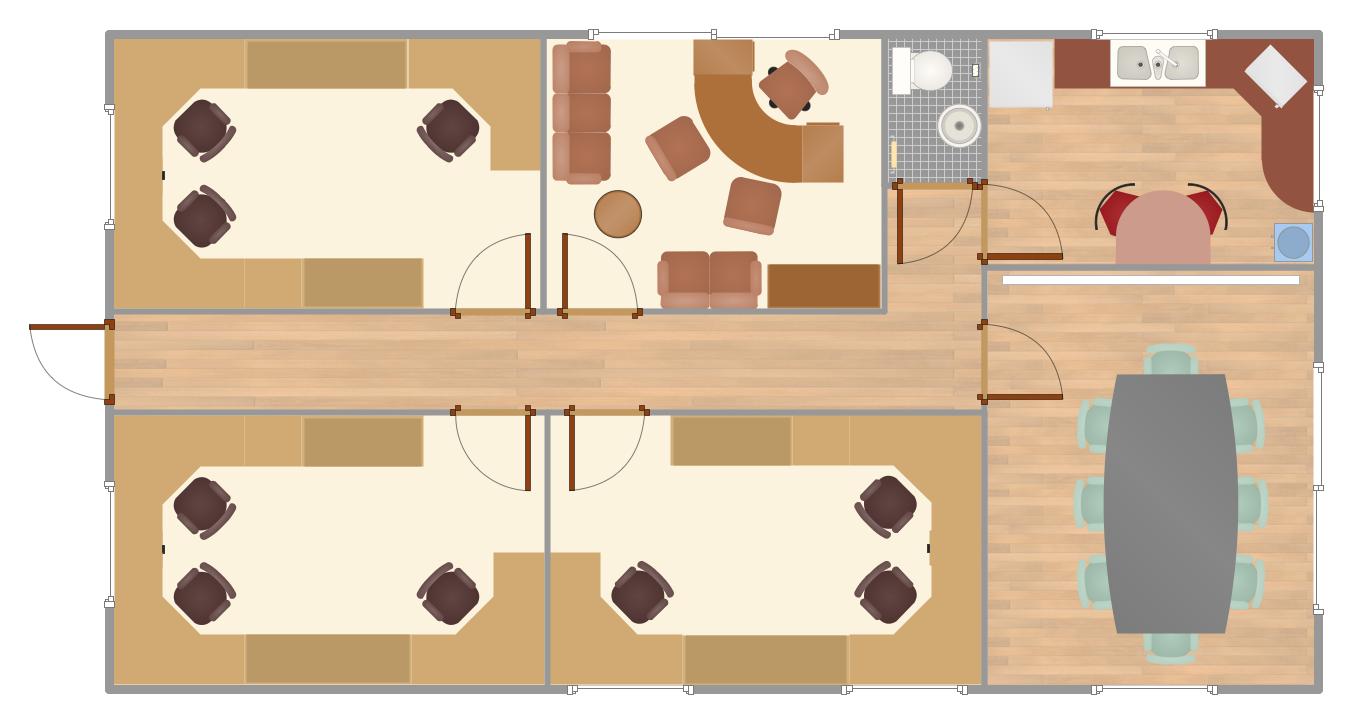 Drawn office blueprint Great Plan Software Home Plan
