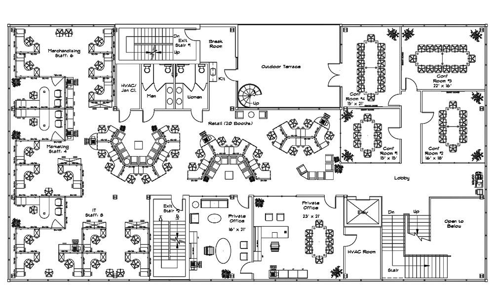 Drawn office blueprint design And Google commercial design design