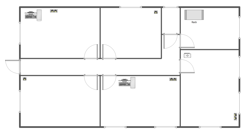 Drawn office blueprint design Layout  elements Network Network