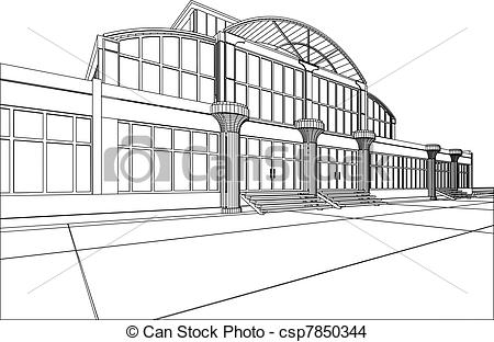 Drawn office building line Wire  office office office