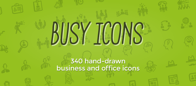 Drawn office busy Office — drawn icons business