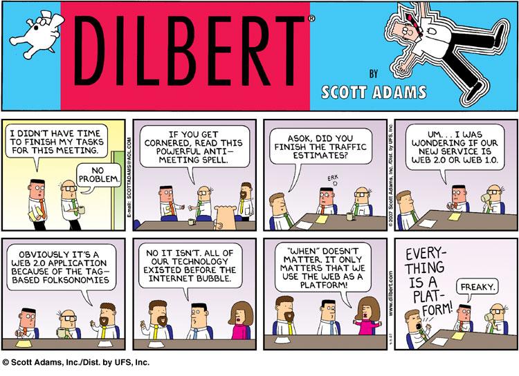 Drawn office comic Dilbert Humor adams Scott Office